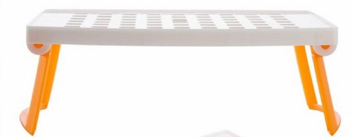 Подставка для микроволновой печи Ругес Плюстарелка, цвет: оранжевый, белый посуда для микроволновой печи ruges кастрюля для микроволновки лок