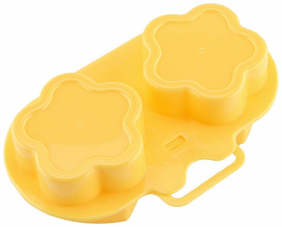 Омлетница Ругес Омлеформ, для микроволновой печи, цвет: желтыйK-21Блюда из яиц и микроволновая печь – сложное сочетание. Малейшая неосторожность и отмывать внутренние стенки микроволновой печи приходится долго и усиленно. В итоге время, которое экономит микроволновая печь потрачено на уборку. Омлетница для микроволновой печи Омлеформ - двусторонняя форма, позволяет приготовить омлет и яичницу-глазунью оригинального дизайна в микроволновой печи. С Омлетницей для микроволновой печи Омлеформ Вы тратите время только на придумывание рецепта и приготовление яичной смеси. Залейте смесь в формы и дальше Ваше участие не требуется: не надо разогревать сковородку и контролировать процесс жарки. Омлетница Омлеформ рассчитана на возможность одновременного приготовления двух аккуратных порций блюда: Вы не нуждаетесь в двух маленьких сковородках и не делите на порции один большой омлет. К тому же вряд ли Ваша сковородка имеет форму цветочка или сердечка. Размер: 18х12х6 см. Вес: 62 грамма. Одна форма: 2 цветочка. Вторая форма: 2 сердечка. Материал: ПВХ. Инструкция на русском языке.