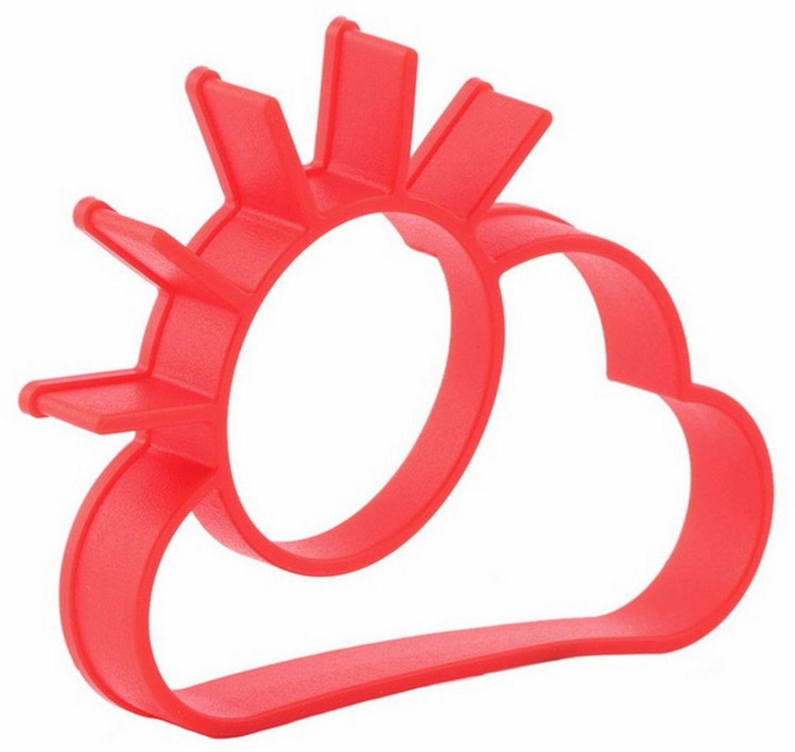 Форма для яичницы Ругес Рассвет, силиконовая, цвет: красный, 11,5 x 9 см pleer ru ооо рассвет