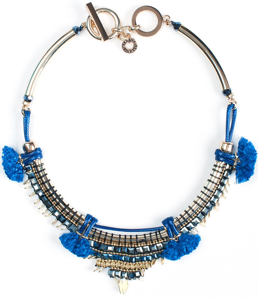Колье Beatrice, цвет: синий. 10096941 Beatrice