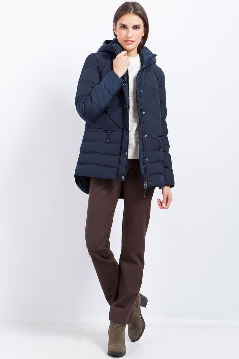 Куртка женская Finn Flare, цвет: темно-синий. W17-11017_101. Размер XL (50)W17-11017_101