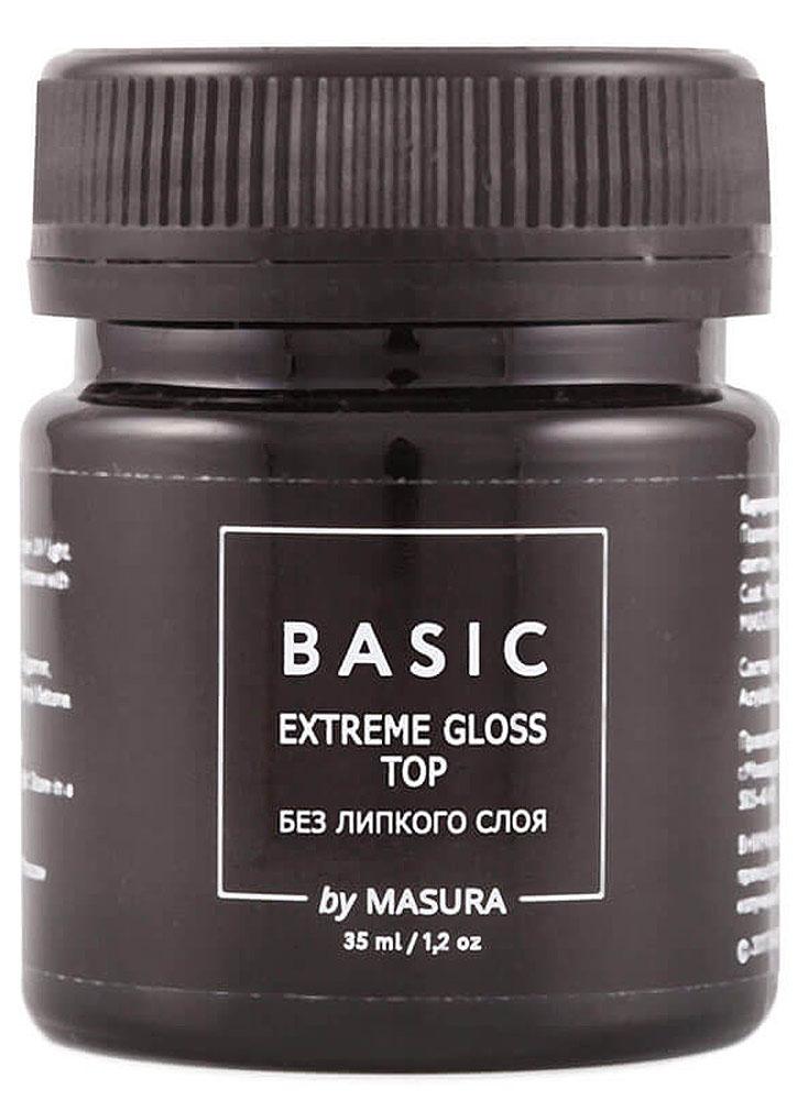 Masura Топ с высоким блеском, без липкого слоя Basic, 35 мл298-20SBasic Extreme Gloss Top / Топ с высоким блеском, без липкого слоя- обеспечивает сияющий отличный глянцевый блеск на протяжении всей носки гель-лака, сохраняет свежий цвет и придает прочность покрытию. Устойчив к сколам, трещинам и царапинам. Лёгок в нанесении, не растекается. Не имеет липкого слоя.