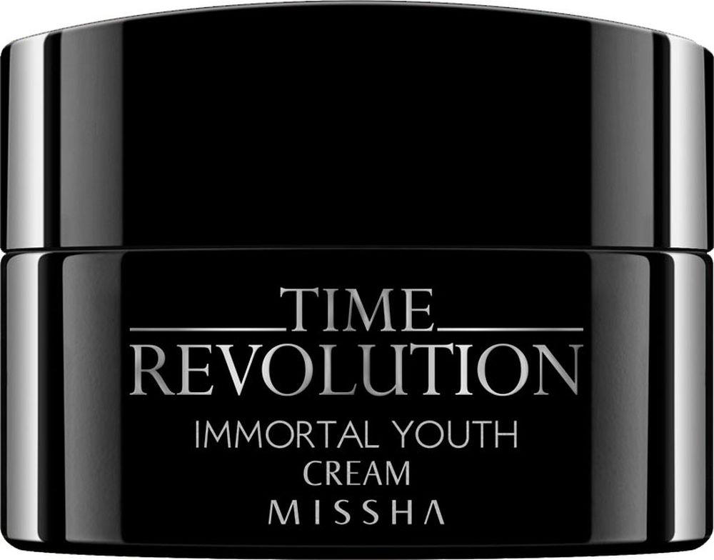 Missha Time Revolution Immortal Youth Cream Антивозрастной питательный крем для лица, 50 мл8806150682637Этот крем является высокоэффективным средством в устранении главных признаков увядания кожи Наличие роскошного состава позволяет крему обладать комплексным антивозрастным и осветляющим действием Основными компонентами крема, которые обеспечивают его интенсивную работу, являются березовый сок, сквалан, экстракт дыни, масло карите, арбутин, кофеин и растительные антиоксиданты Березовый сок способствует уменьшению морщин, предотвращает появление пигментации Сквалан оказывает мощное восстанавливающее и себорегулирующее действие Вытяжка плодов дыни улучшает эластичность кожи и эффективно увлажняет ее Масло карите оказывает ультрапитательное действие, а кофеин тонизирует кожу, придавая очевидный эффект лифтинга Арбутин, являющийся натуральным экстрактом, обладает сильным осветляющим действием, в результате которого эффективно устраняется пигментация кожи, и тон лица становится более равномерным Комплекс растительных антиоксидантов в составе крема позволяет ему эффективно выводить токсины из глубины слоев эпидермиса, улучшая клеточные обмен, повышая защитные функции, и возвращая кожи здоровый, ухоженный вид и сияние Сочетание мощных компонентов в составе крема позволит вернуть увядающей коже красоту, тонус и эластичность, окажет мощное восстанавливающее, увлажняющее и питательное действие