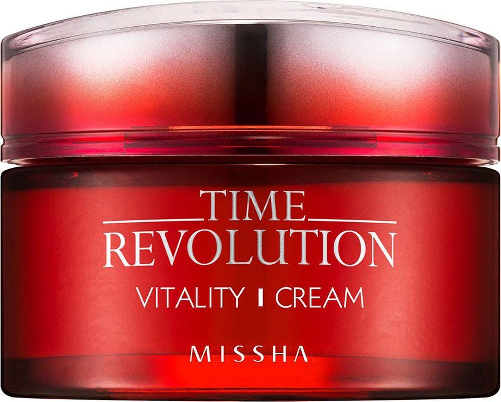 Missha Time Revolution Vitality Cream Интенсивный антивозрастной крем для лица, 50 мл8806185748285С возрастом наша кожа теряет способность к самостоятельному обновлению и восстановлению, синтез компонентов красоты – коллагена, эластина, гиалуроновой кислоты – замедляется Из-за этого кожа становится сухой, тусклой, теряет упругость и эластичность, ее защитные функции ослабевают Однако можно помочь своей коже сохранить красивый и здоровый внешний вид гораздо дольше, если использовать качественные косметические средстваАнтивозрастной крем оживляет уставшую кожу, смягчает огрубевшую, наполняет сиянием тусклую Крем способствует максимальному наполнению клеток влагой, питает кожу, восстанавливает функции клеток, которые отвечают за выработку коллагена, снижает тонус мимических мышц, влияющих на появление морщин Крем помогает разгладить существующие морщины и предупредить появление новых, осветляет пигментацию, а также защищает от агрессивного воздействия УФ-излучения и свободных радикаловВ составе оживляющей серии Missha Time Revolution Vitality комплекс красных экстрактов: граната, гибискуса и клюквыЭкстракт граната оказывает ярко выраженное омолаживающее действие: стимулирует синтез коллагена и улучшает мнкроциркуляцию кожи, ускоряет заживление кожных повреждений и стимулирует процесс обновления клеток, защищает от вредного воздействия окружающей среды (плохая экология, УФ-излучение) Антиоксидантные свойства граната превосходят по силе воздействия признанные антиоксиданты зеленый чай, виноград и чернику Гранат способен противостоять развитию раковых клеток, а также способствовать их разрушению Способствует отбеливанию кожи лица, устраняя пигментные пятна, веснушки и пост-акне, эффективно разглаживает существующие морщины и препятствует появлению новых, подтягивает кожу Гранат незаменим для ухода за зрелой и истощенной кожейЭкстракт гибискуса оказывает омолаживающее действие, препятствуя разрушению эластина и поддерживая оптимальное увлажнение рогового слоя эпидермиса, о