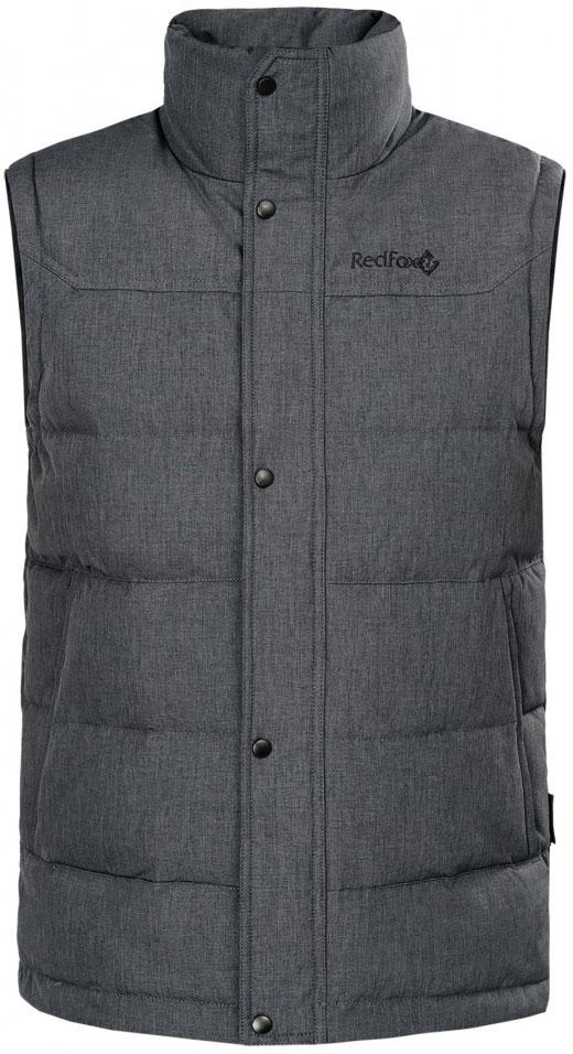 Жилет утепленный мужской Red Fox Nansen II, цвет: асфальт. 00001061220_2000. Размер XXL (58/60)00001061220_2000Жилет утепленный: воротник-стойка, ветрозащитная планка на кнопках, два боковых кармана со скрытыми молниями, внутренний карман на молнии. Основное назначение: повседневное городское использование. Посадка: Regular FitМатериал: Dry Factor 5000, 100% Polyester, 160 g/sqm, W/P 5000 mm, breathability 5000 g/sqm 24hrs, DWRУтеплитель: Утиный пух 90/10 F.P. 650+Подкладка: 100% Polyester, 76 g/sqm.