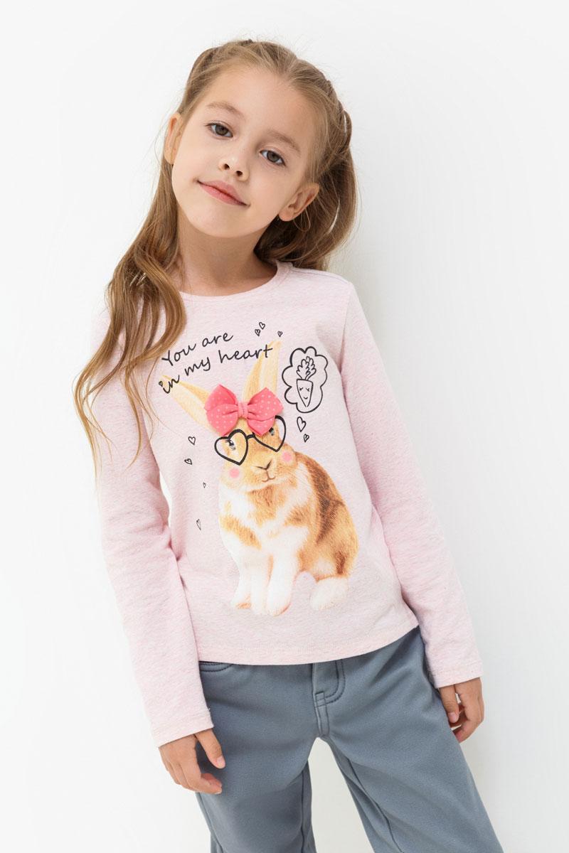 Лонгслив для девочки Acoola Lancome, цвет: светло-розовый. 20220100123. Размер 9820220100123Лонгслив для девочки Acoola выполнен из эластичного хлопка. Модель с круглым вырезом горловины и длинными рукавами.