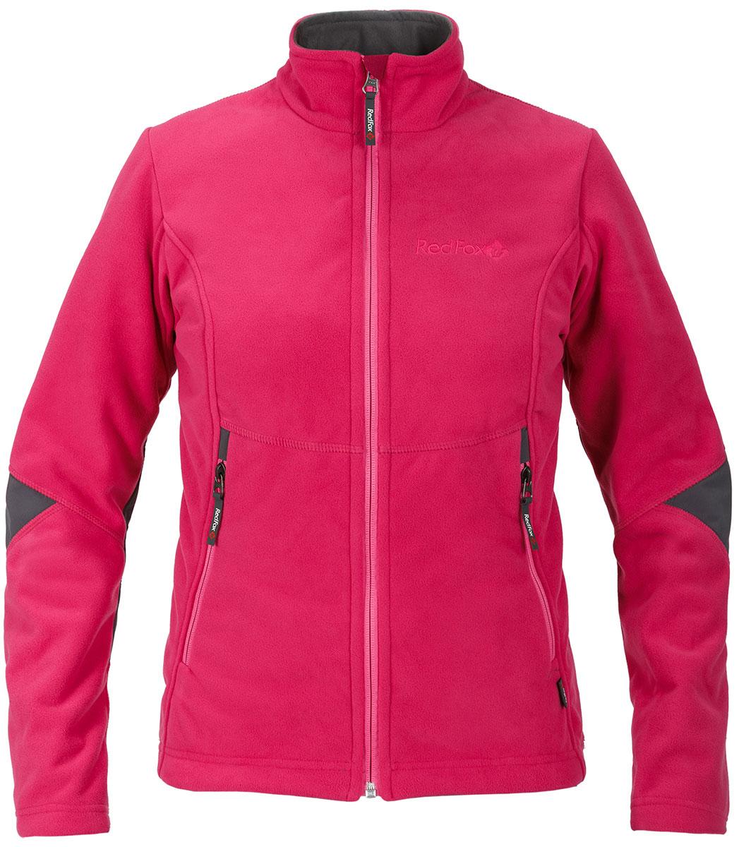 Куртка женская Red Fox, цвет: розовый. 1038183. Размер XL (52)1038183Стильная и надежна куртка для защиты от холода и ветра при занятиях спортом, активном отдыхе и любых видах путешествий. Обеспечивает свободу движений, тепло и комфорт, может использоваться в качестве наружного слоя в холодную и ветреную погоду. Профилированная конструкция рукава для максимальной свободы движений. Усиления в локтевой зоне. Два боковых кармана на молнии. Плоские швы.