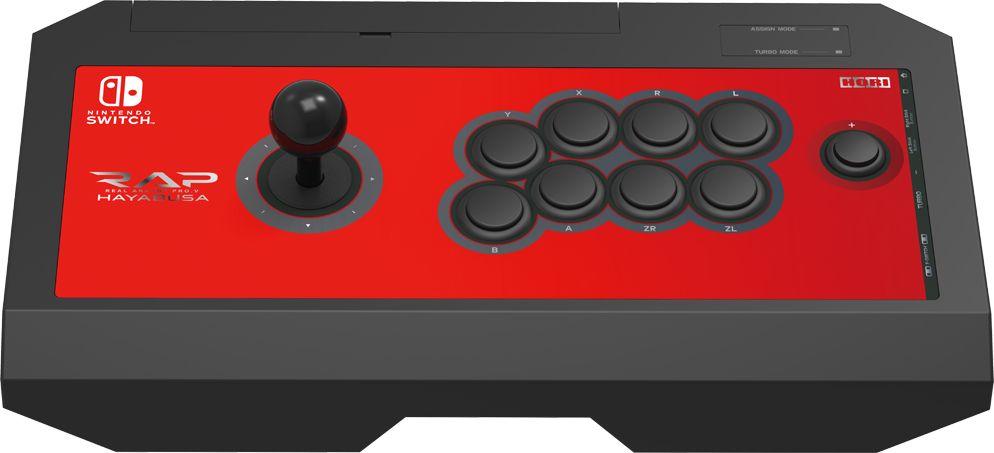 Hori Pro.V Hayabusa, Red джойстик для Nintendo Switch (NSW-006U)HR13Официально лицензированные NintendoПроводной аркадный стик для Nintendo коммутатораИдеально подходит для названия файтингВключает турбо функцию