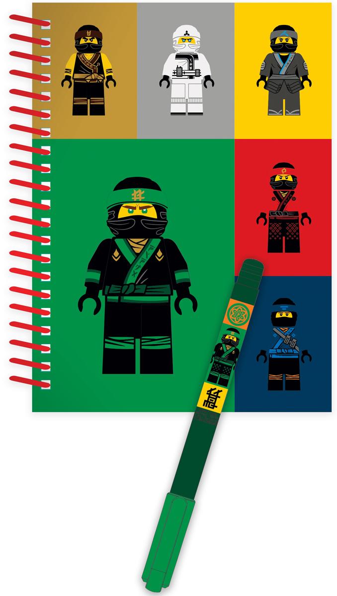 LEGO NINJAGO Канцелярский набор 2 предмета 5186851868Набор состоит из блокнота на спирали (100 листов, линейка) и гелевой ручки. Блокнот можно использовать в качестве ежедневника, книги для написания сочинений или важных событий.