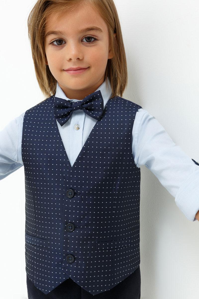 Жилет для мальчика Acoola Matt, цвет: темно-синий. 20120400015. Размер 11020120400015Жилет для мальчика Acoola выполнен из полиэстера. Модель застегивается на пуговицы и оформлена принтом.