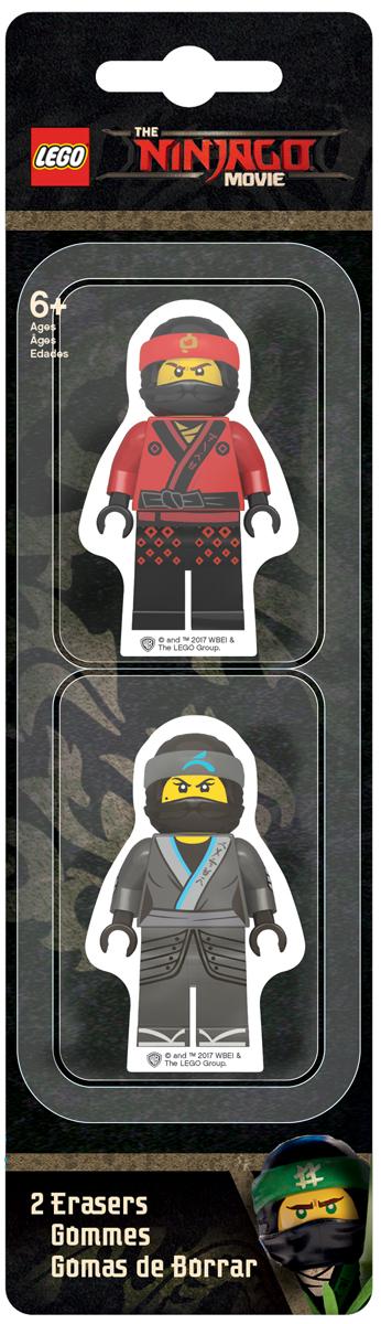 LEGO NINJAGO Набор ластиков Kai Nya 2 шт 5187651876Ластик подходит для стирания графитовых рисунков и надписей, не оставляет разводов, не царапает поверхность.