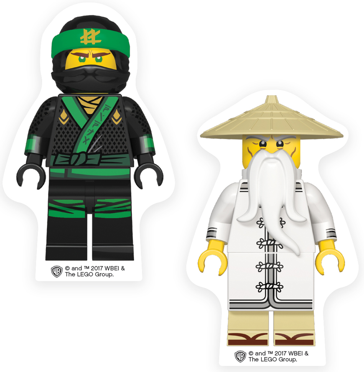 LEGO NINJAGO Набор ластиков Lloyd Wu 2 шт 5187751877Ластик подходит для стирания графитовых рисунков и надписей, не оставляет разводов, не царапает поверхность.