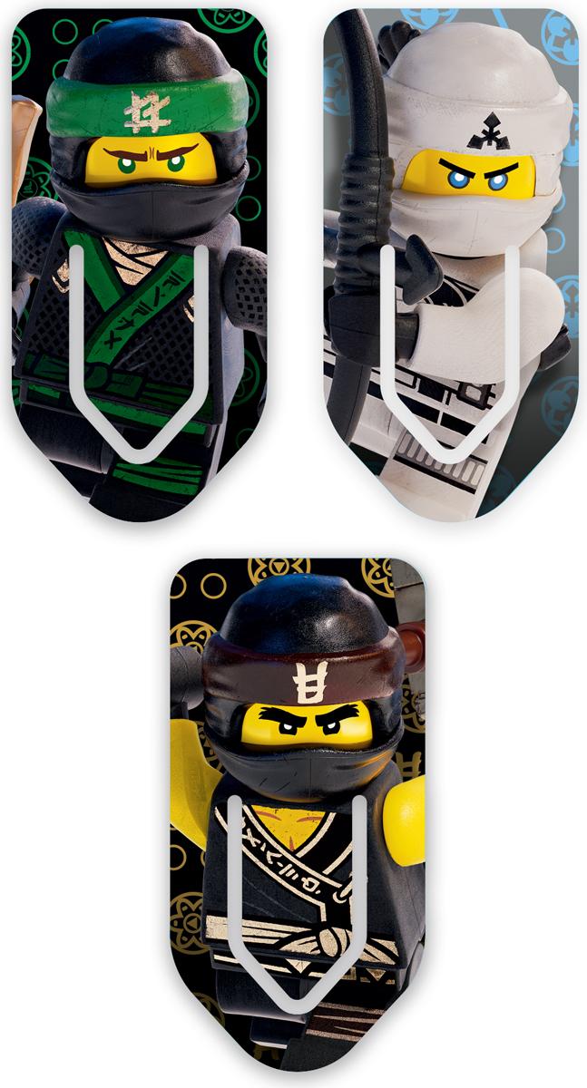LEGO NINJAGO Набор закладок для книг Lloyd Cole Zane 3 шт 51878 -  Закладки для книг