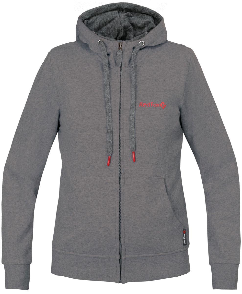 Куртка женская Red Fox, цвет: темно-серый. 1061476. Размер M (46/48)1061476Прямой силуэт;интегрированный капюшон;центральная застежка на молнии;два боковых кармана;эластичные манжеты;эластичная широкий подвяз по низу.Основное назначение: повседневное городское использование, путешествия.Посадка: Regular Fit.Материал: 100% Cotton, knit, 300 g/sqm.Размерный ряд: XS – XL.
