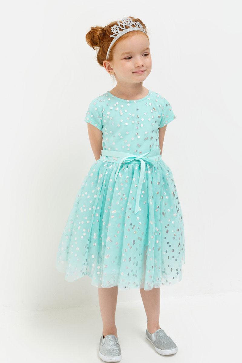 Платье для девочки Acoola Haribo, цвет: светло-бирюзовый. 20220200220. Размер 11620220200220Стильное платье для девочки идеально подойдет вашей маленькой принцессе. Изготовленное из полиэстера, оно необычайно мягкое и приятное на ощупь, не сковывает движения и позволяет коже дышать, не раздражает даже самую нежную и чувствительную кожу ребенка, обеспечивая ему наибольший комфорт.Оригинальный современный дизайн и модная расцветка делают это платье модным и стильным предметом детского гардероба. В нем ваша малышка будет чувствовать себя уютно и комфортно и всегда будет в центре внимания!