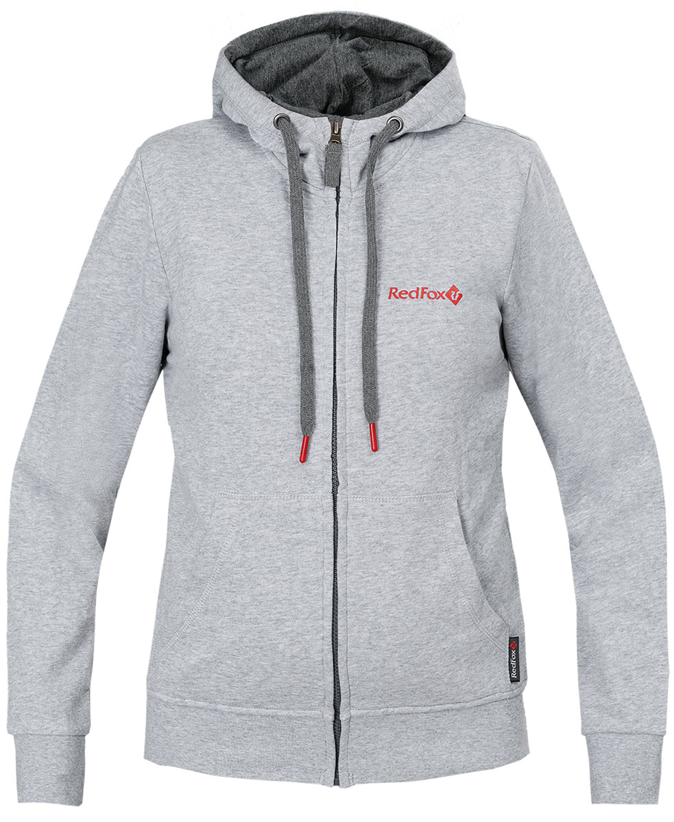 Куртка женская Red Fox, цвет: светло-серый. 1061476. Размер S (44)1061476Прямой силуэт;интегрированный капюшон;центральная застежка на молнии;два боковых кармана;эластичные манжеты;эластичная широкий подвяз по низу.Основное назначение: повседневное городское использование, путешествия.Посадка: Regular Fit.Материал: 100% Cotton, knit, 300 g/sqm.Размерный ряд: XS – XL.