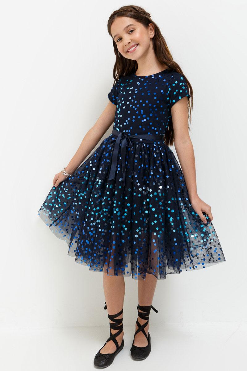 Платье для девочки Acoola Haribo, цвет: темно-синий. 20210200202. Размер 16420210200202Стильное платье для девочки идеально подойдет вашей маленькой принцессе. Изготовленное из полиэстера, оно необычайно мягкое и приятное на ощупь, не сковывает движения и позволяет коже дышать, не раздражает даже самую нежную и чувствительную кожу ребенка, обеспечивая ему наибольший комфорт.Оригинальный современный дизайн и модная расцветка делают это платье модным и стильным предметом детского гардероба. В нем ваша малышка будет чувствовать себя уютно и комфортно и всегда будет в центре внимания!