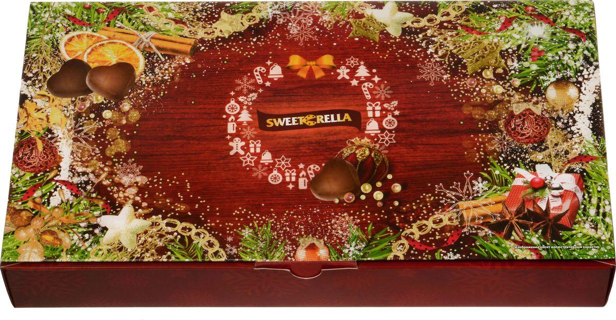 Sweeterella набор шоколадных конфет Новогоднее настроение, 125 г sweeterella набор сдобного печенья ассорти 710 г