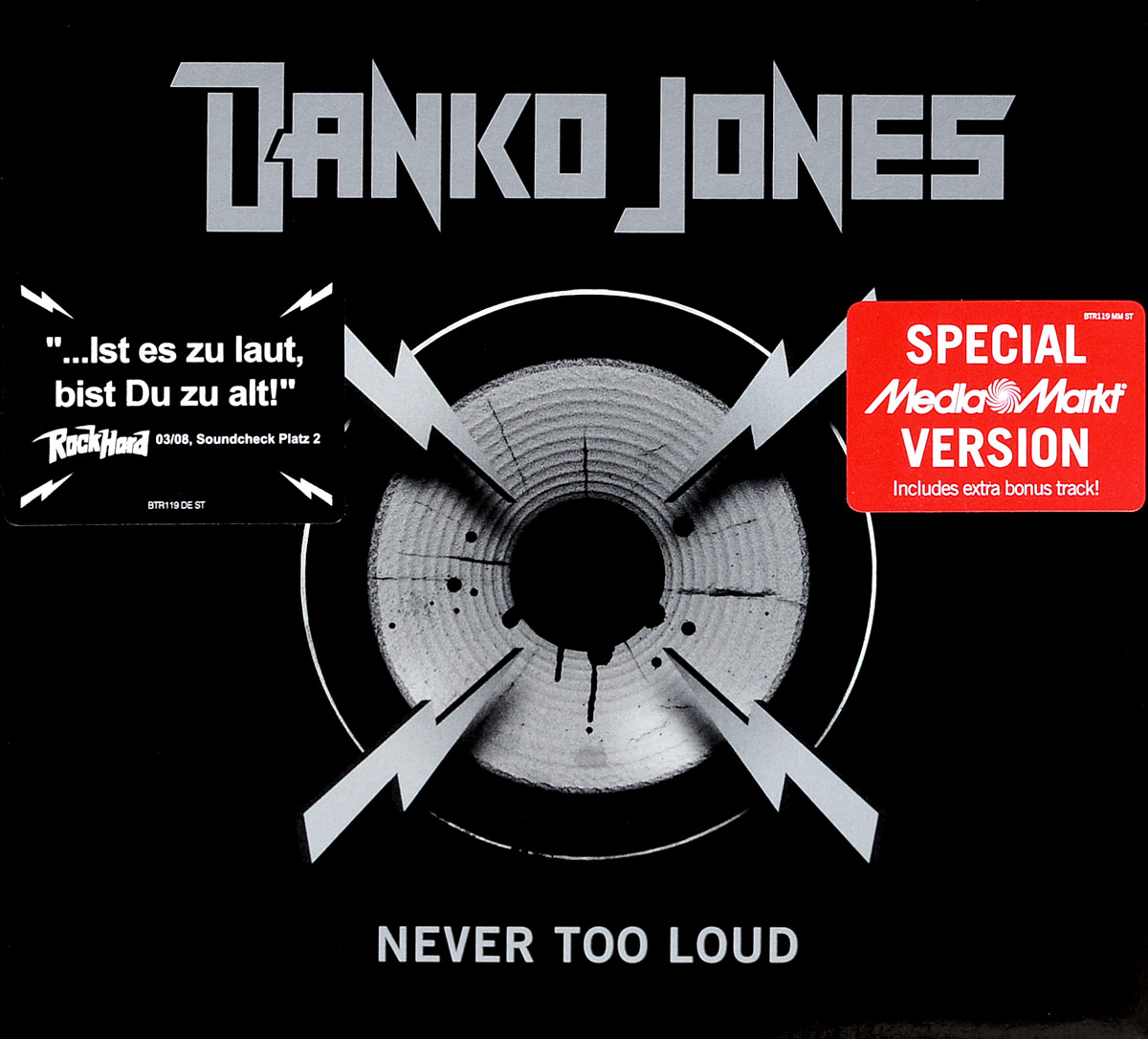 Danko Jones Danko Jones. Never Too Loud. Special Media Markt Version 110db loud security alarm siren horn speaker buzzer black red dc 6 16v