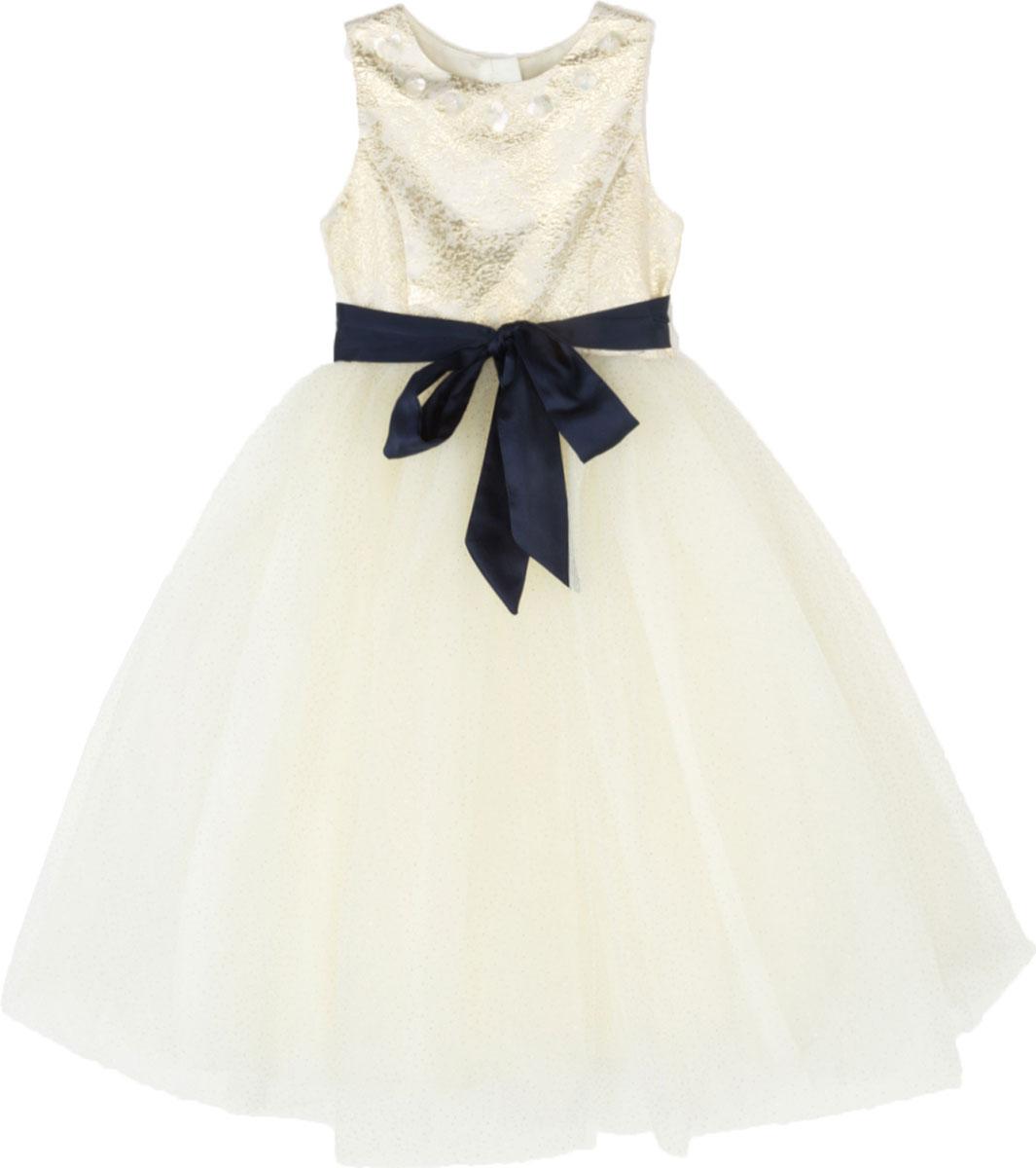Платье для девочки Acoola Vinona, цвет: бежевый. 20220200224. Размер 12220220200224Стильное платье для девочки идеально подойдет вашей маленькой принцессе. Изготовленное из полиэстера и хлопка, оно необычайно мягкое и приятное на ощупь, не сковывает движения и позволяет коже дышать, не раздражает даже самую нежную и чувствительную кожу ребенка, обеспечивая ему наибольший комфорт.Оригинальный современный дизайн и модная расцветка делают это платье модным и стильным предметом детского гардероба. В нем ваша малышка будет чувствовать себя уютно и комфортно и всегда будет в центре внимания!