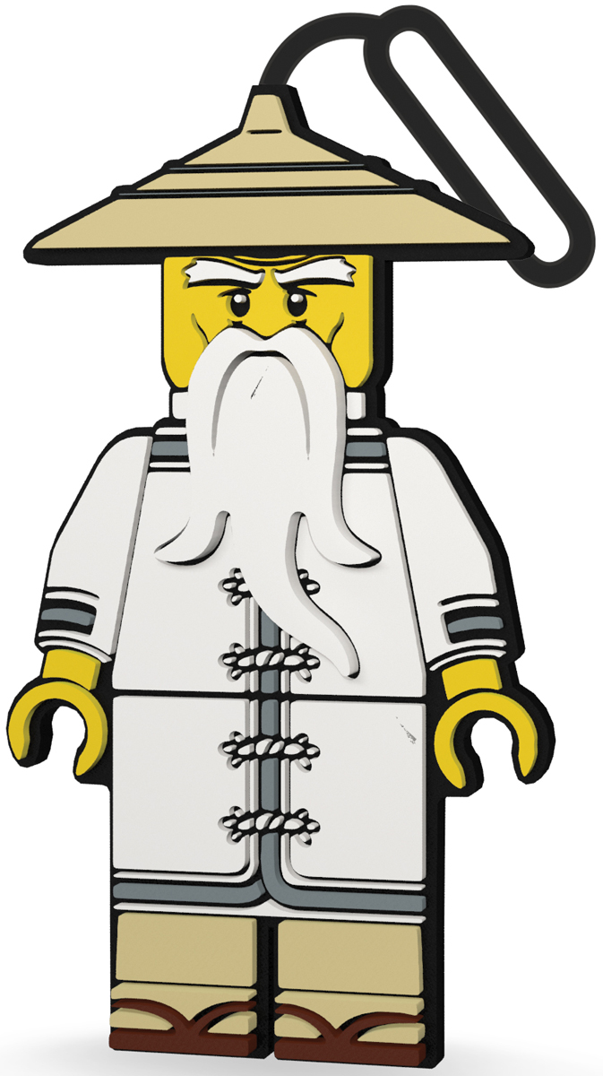 LEGO Ninjago Бирка для багажа Sensei51884Силиконовая бирка надежно крепится к багажу с помощью петли. Яркий и неповторимый дизайн сразу же привлечет внимание, и вы легко отыщите свой чемодан на транспортной ленте. Запишите свои контактные данные на обратной стороне бирки и можете не бояться, что ваш чемодан потеряется, ведь теперь работники аэропорта точно будут знать его хозяина.