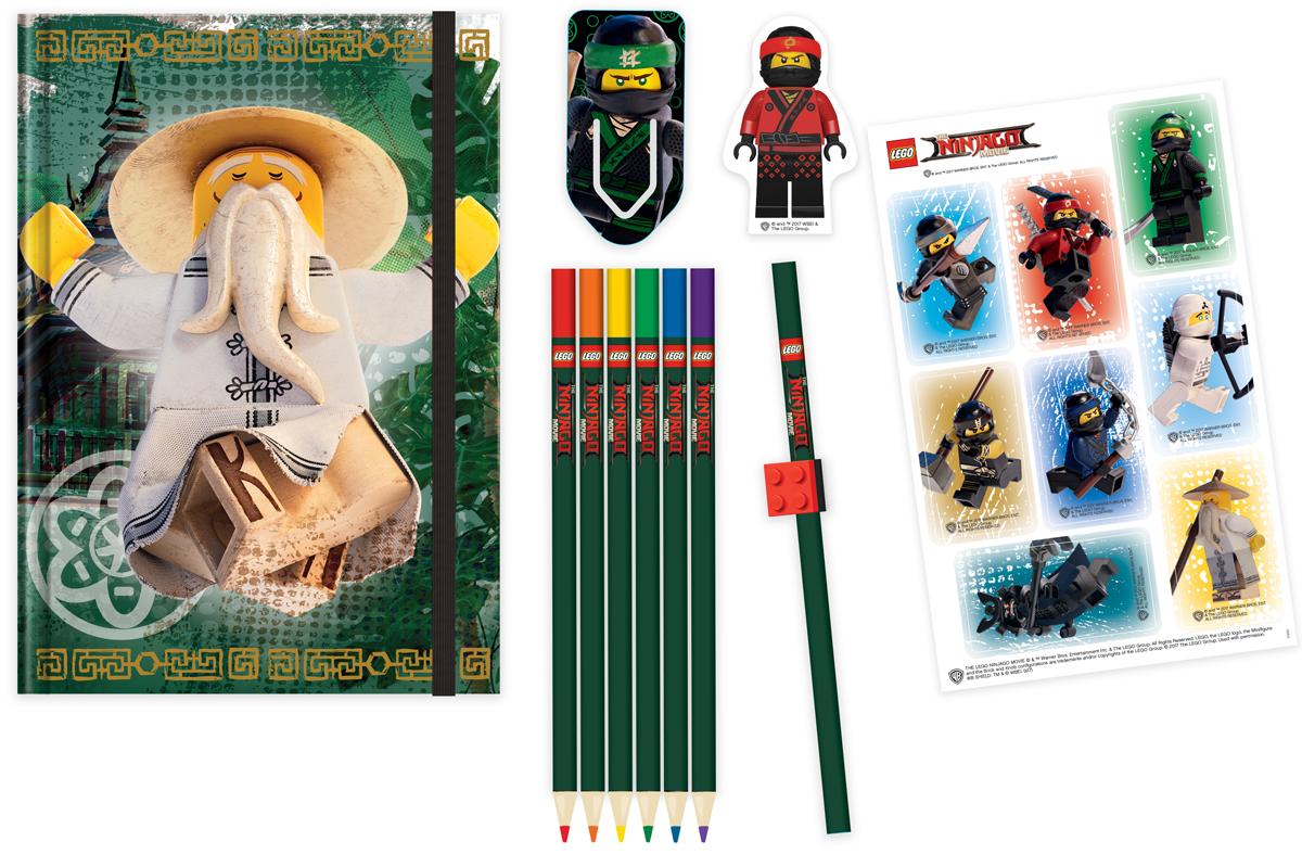 LEGO NINJAGO Набор канцелярских принадлежностей 12 предметов 51890 широкий guangbo 12 пакета 24мм 50y очень прозрачная лента канцелярских лент небольших канцелярских принадлежности fx 64