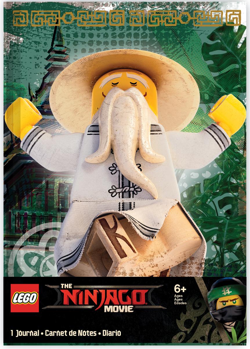 LEGO NINJAGO Блокнот Sensei Wu 96 листов в линейку51925Книгу для записей можно использовать в качестве ежедневника, блокнота для рисования, написания сочинений или важных событий. 96 листов, линейка, с резинкой.
