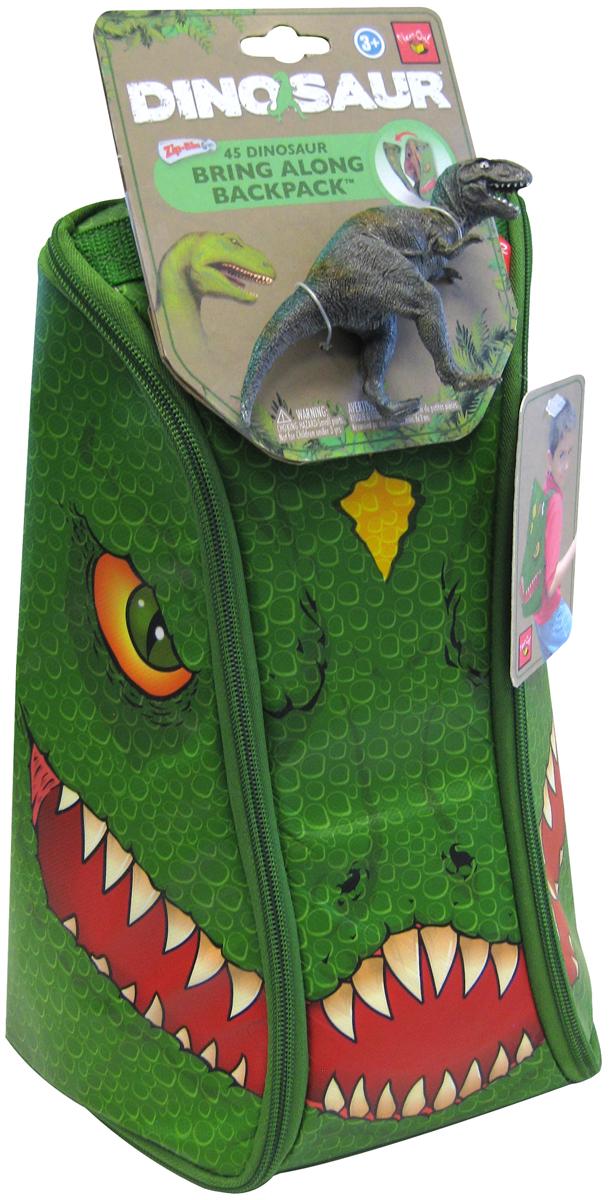 Dinosaur Игровой набор ЗипБин Динозавр 2 предметаА1289Х7Вопрос о сохранности и транспортировке игрушек можно считать решенным, ведь теперь у вашего ребенка будет оригинальный и удобный ЗипБин. В нем можно не только переносить или хранить игрушки, он и сам является частью игры. Интересный формат рюкзака-коврика позволяет максимально просто организовать сбор использованных элементов – только не позволяйте им выходить за пределы площадки! Стильный рюкзак легко раскладывается и превращается в красочный коврик. Игровое поле украшено изображением фантастического мира доисторических хищников. С помощью фигурок-динозавров (1 в комплекте) можно придумать множество интересных сценариев и разыграть их прямо на полу своей комнаты. Могучие динозавры и захватывающие приключения уже ждут вас! С помощью ЗипБина этой серии вы сможете создать свои собственные удивительные истории, стать их режиссером и главным героем. Фигурки динозавров из всех игровых наборов прекрасно подходят для коллекционирования. Собрав всех зверей вместе, вы сможете разыгрывать поистине эпические сражения, достойные экранизации. Увлекательная игра докажет, что грубой силе всегда можно противопоставить смекалку, умение пользоваться техникой и командный дух.Состав: рюкзак-коврик-50%полипропилен, 40% пористый полиэтилен, 10% картон; фигурка-пластик. Рекомендуемый возраст - от 3х лет. Размер рюкзака-25Х13,5Х32,5 см (д/ш/в), коврика-77,5Х51,2 см, высота фигурки-11,2 см.