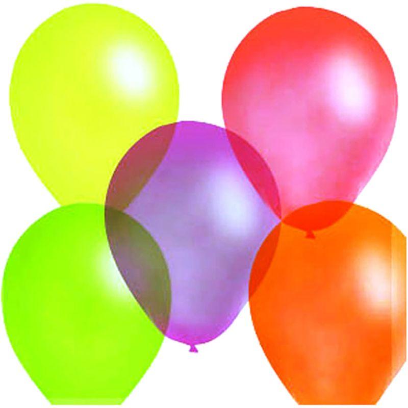 Шарик воздушный Флуоресцентный 100 шт аксессуары на день рождения купить