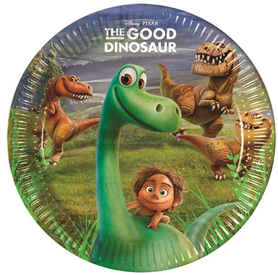 Procos Тарелка Хороший Динозавр 23 см 8 шт - Сервировка праздничного стола