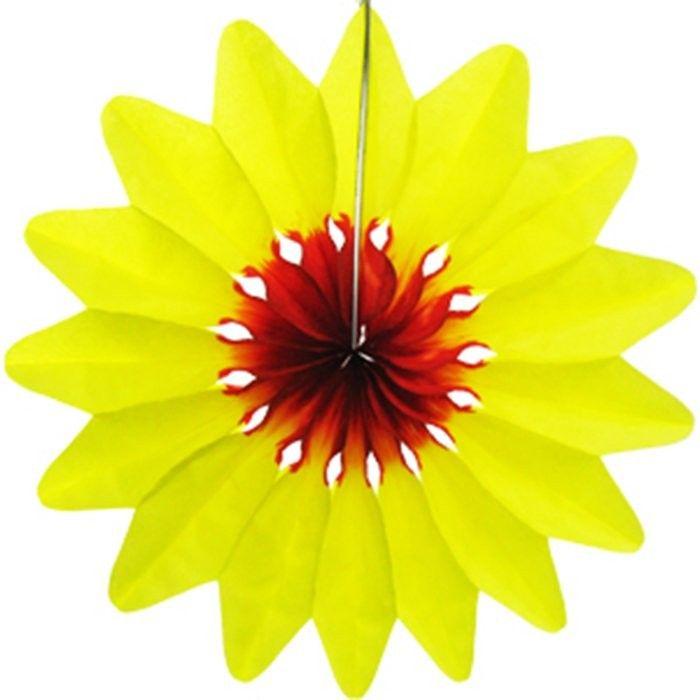Пати Бум Украшение для помещения Цветок цвет желтый 36 см пати бум свеча цифра мини 1 звезда цвет красный