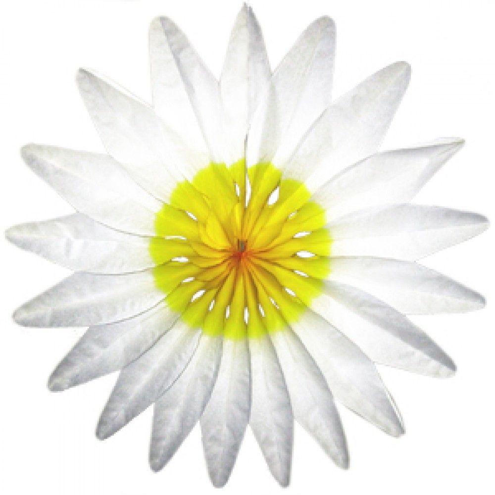 Пати Бум Украшение для помещения Цветок цвет белый 50 см41052Объемная фигура из гофрированной бумаги в форме белого цветка пригодится для оформления помещения к празднику.