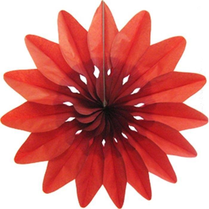 Пати Бум Украшение для помещения Цветок цвет красный 50 см пати бум свеча для торта цифра 7 конфетти цвет красный