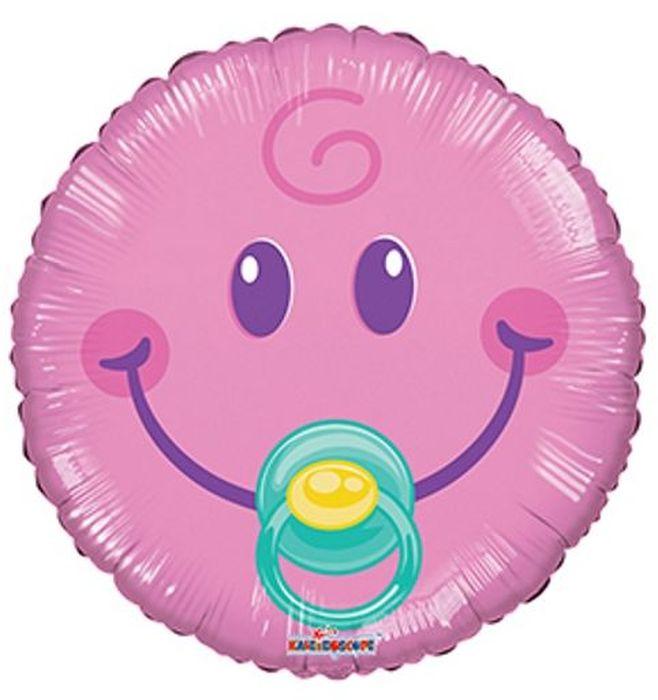 Конвер Шарик воздушный Смайл Малышка цвет розовый кацапка смайл неожиданное чудо