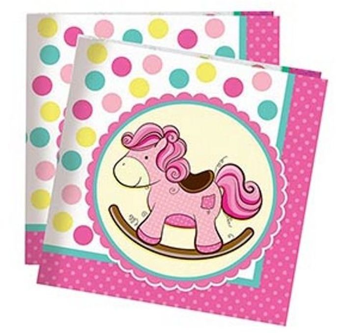 Пати Бум Салфетки Лошадка Малыш цвет розовый 20 шт пати бум набор свечей коктейльные 20 см 20 шт