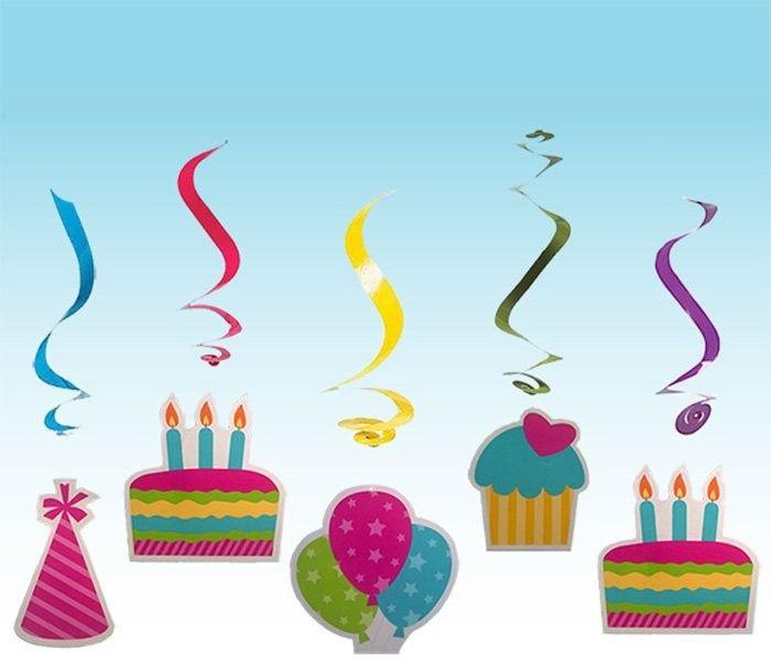 Украшение помещения С Днем Рождения спираль 5 шт disney гирлянда детская на ленте тачки с днем рождения