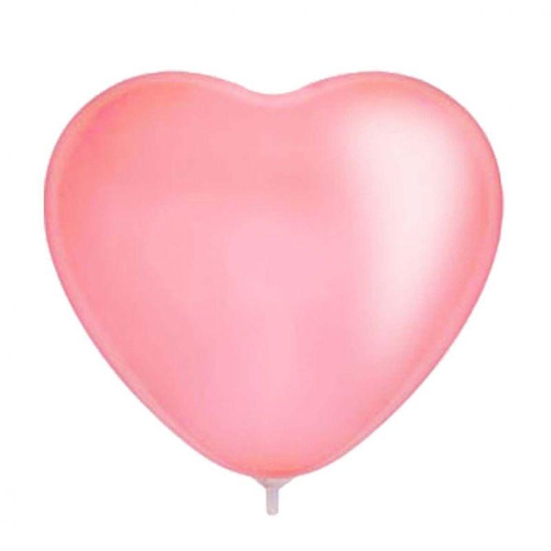 Шарик воздушный Сердце цвет розовый 25 шт бассейны и фонтаны