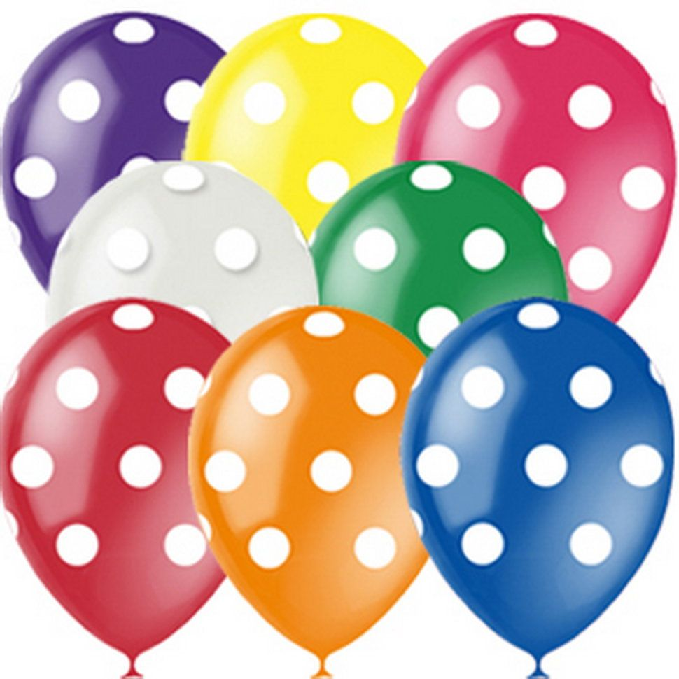 Latex Occidental Набор воздушных шариков Декоратор Горошек 10 шт в казани пенопластовые шары для поделок