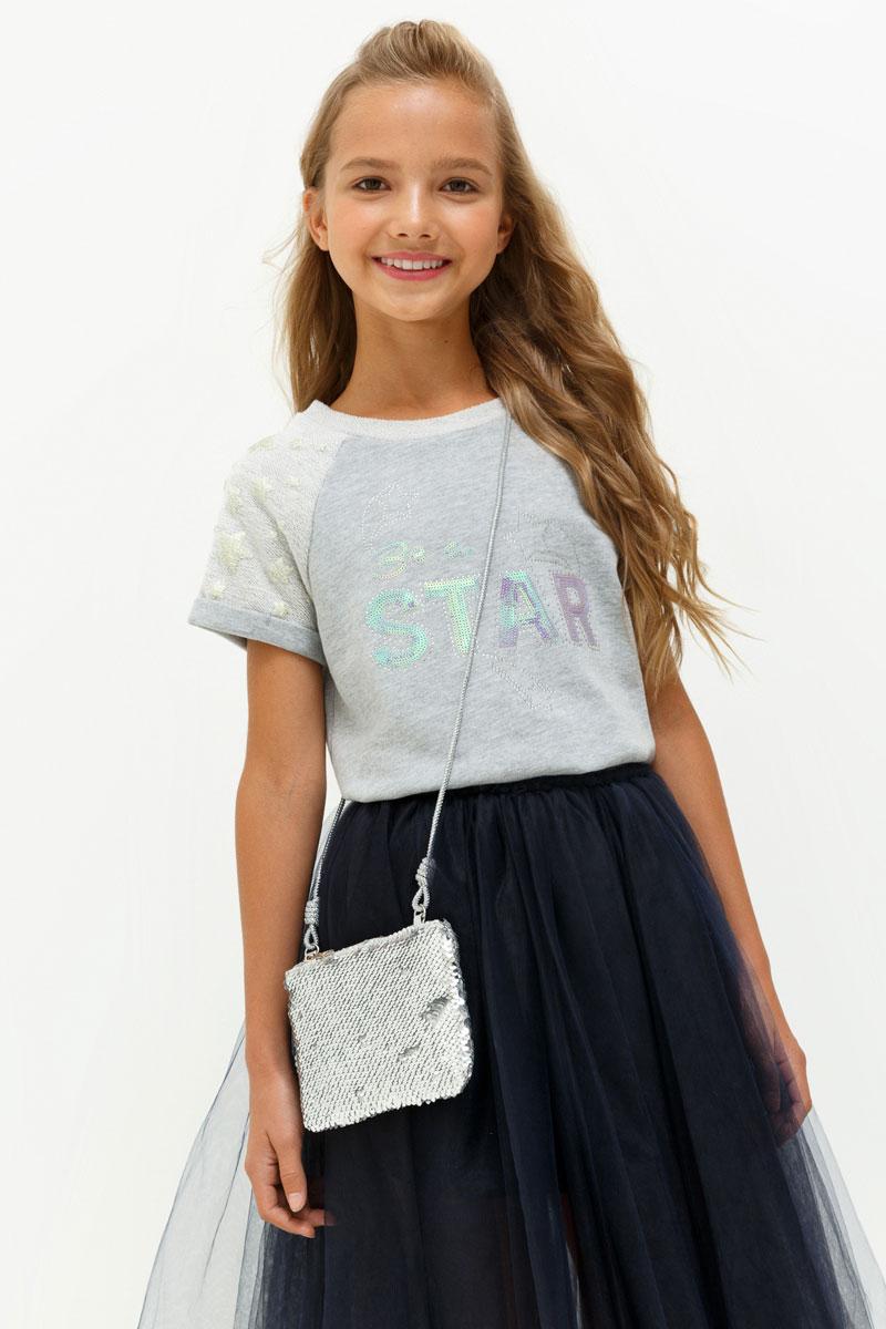 Футболка для девочки Acoola Marzipan, цвет: серый. 20210110106. Размер 164 футболка с длинным рукавом для девочки acoola avon цвет светло розовый 20210100132 размер 164