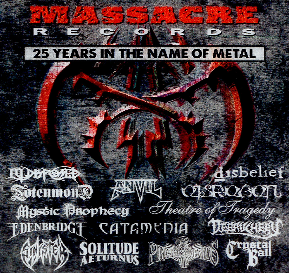 Theatre of Tragedy,Crematory,Catamenia,Sinister,Debauchery,Edenbridge,Disbelief,Legion Of The Damned,Mystic Prophecy,Axxis 25 Years In Metal (2 CD) стинг sting the best of 25 years 2 cd