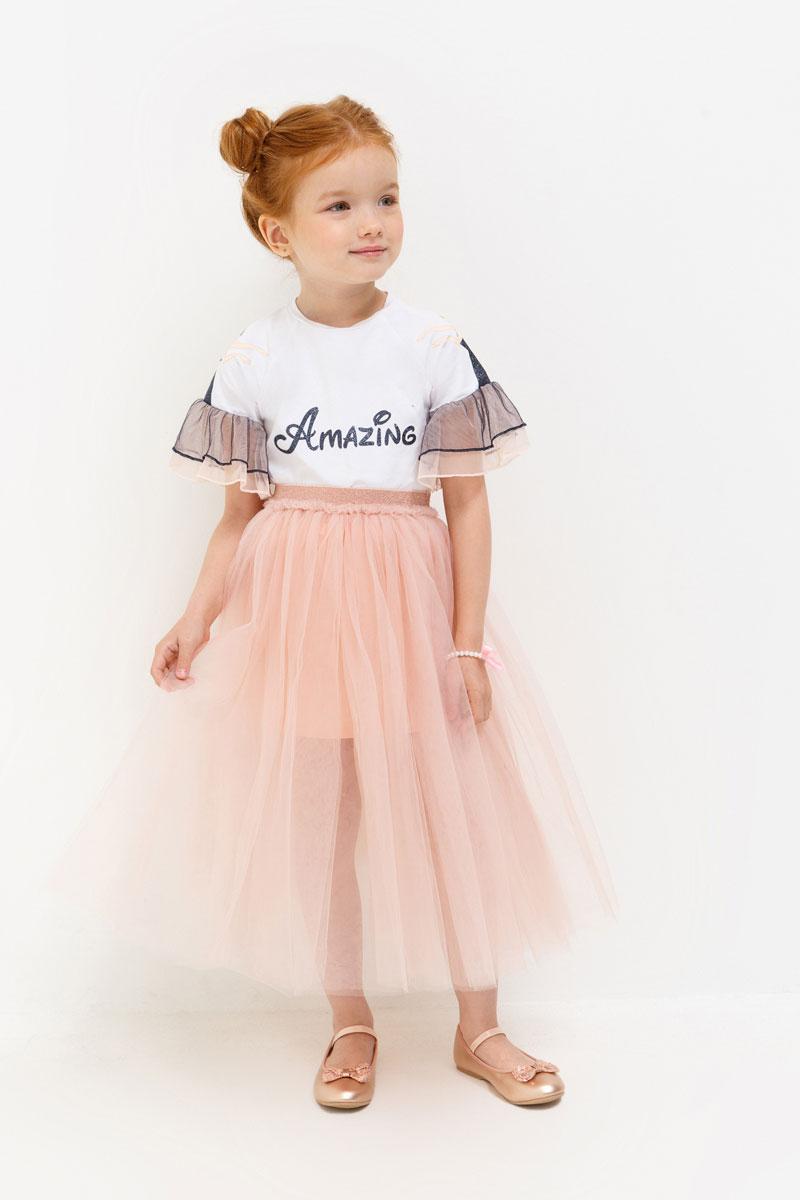 Юбка для девочки Acoola Oreo, цвет: светло-розовый. 20220180057. Размер 12220220180057Юбка Acoola станет стильным дополнением к гардеробу юной модницы. Юбка выполнена из высококачественного материала. Обладательница этой юбки всегда будет в центре внимания!