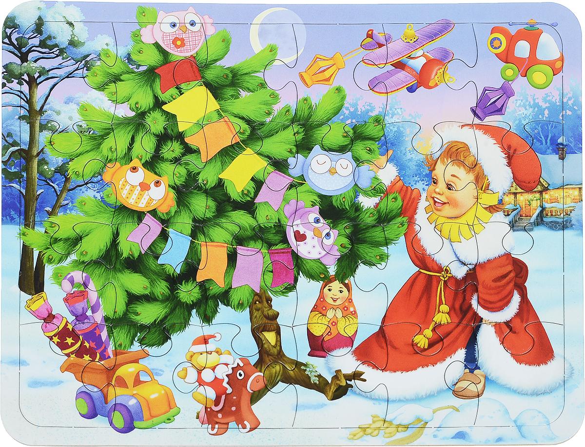 Поздравления, открытка новогодний пазлы