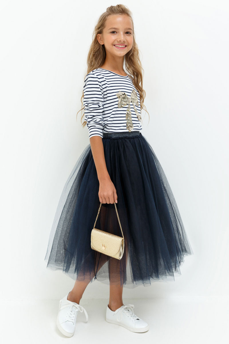 Юбка для девочки Acoola Oreo, цвет: темно-синий. 20210180061. Размер 15820210180061