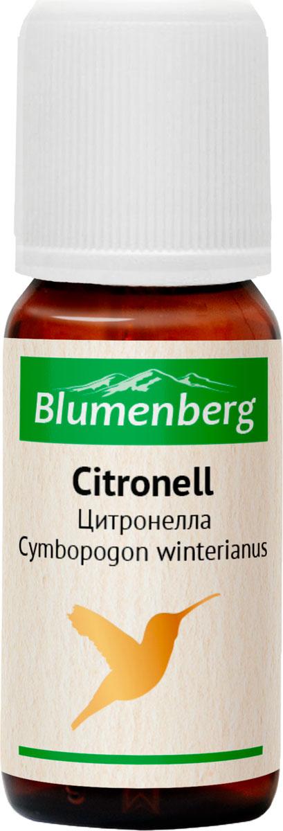 Масло эфирное Blumenberg, цитронелла, 10 мл223744Борется с инфекционными заболеваниями, повышает иммунитет. Устраняет симптомы вегетососудистой дистонии. Повышает остроту слуха, снимает заложенность и шум в ушах. Стимулирует синтез половых гормонов, помогает при нарушениях менструального цикла и проблемах менопаузы. Лечит расстройства желудочно-кишечного тракта. Улучшает состояние кожи. Эффективный антидепрессант.ПротивопоказанияНе использовать во время беременности. С аккуратностью применять на чувствительной коже.