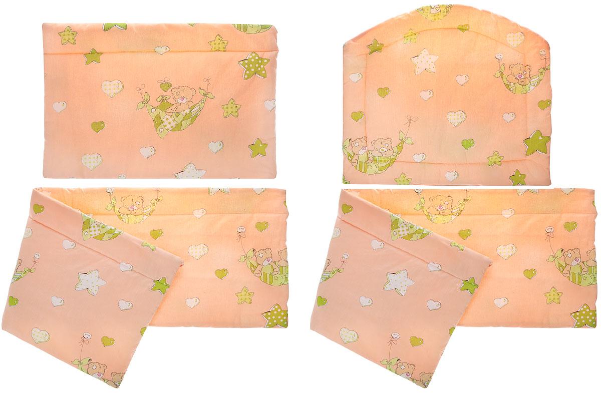 Фея Борт комбинированный 405 Мишки в гамаке цвет персиковый -  Бортики, бамперы