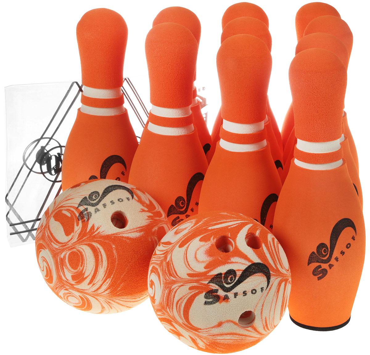Zakazat.ru Safsof Игровой набор Боулинг цвет оранжевый диаметр шара 15,5 см