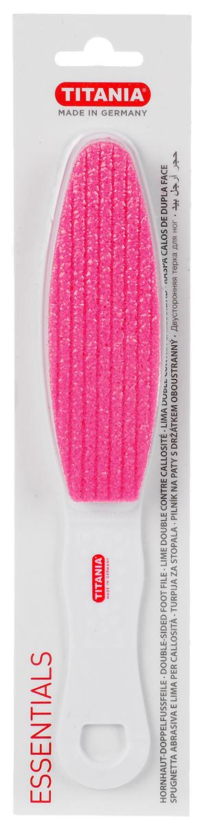 Titania Терка педикюрная, двусторонняя, цвет: розовый, белый3032_розовый, белыйТерка для педикюра двусторонняя, на пластиковой основе Titania. Наждачная поверхность. Для мягкого и основательного удаления мозолей и ороговевшей кожи. Нескользящая ручка и изогнутая форма позволяют легко удалять мозоли в труднодоступных местах.Как ухаживать за ногтями: советы эксперта. Статья OZON Гид