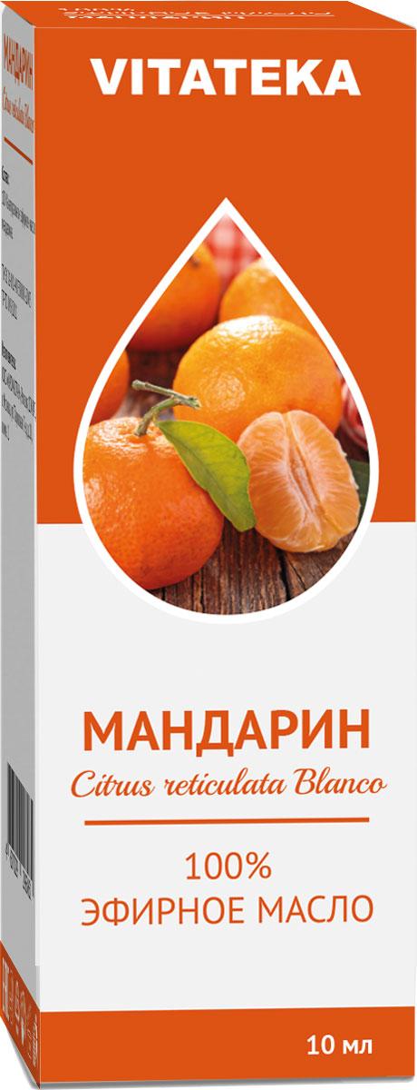 Масло эфирное Витатека, мандарин, 10 мл226121Запах эфирного масла мандарина снимает беспокойство, заряжая хорошим настроением и повышая жизненный тонус.