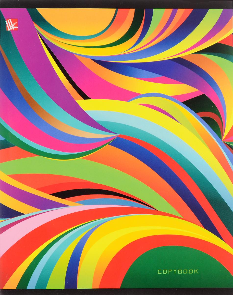 Канц-Эксмо Тетрадь Яркая графика Волны 96 листов в клеткуТК965012_волныКанц-Эксмо Тетрадь Яркая графика Волны 96 листов в клетку