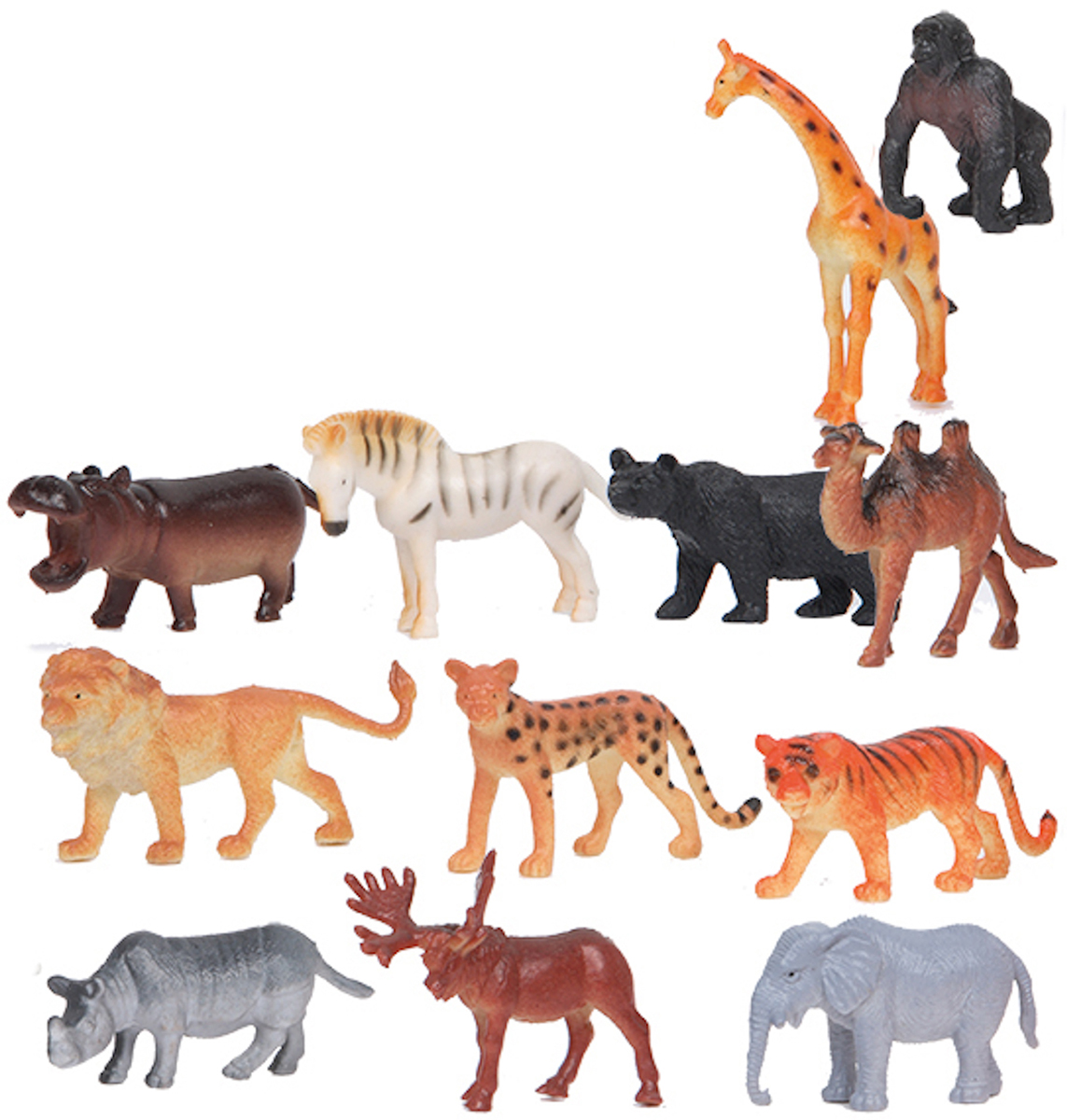 Играем вместе Набор фигурок Дикие животные 5 см 12 шт